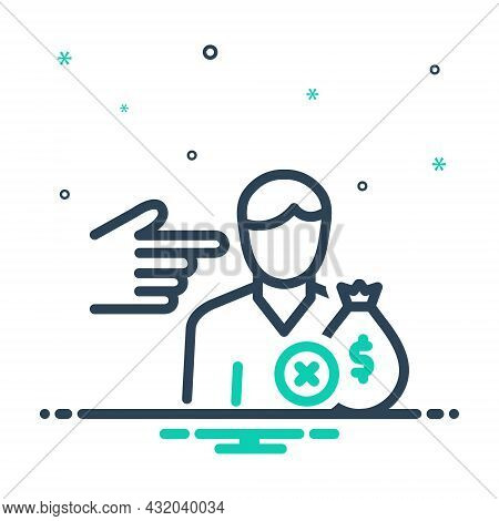 Mix Icon For Shall Be-about-to Intend Must Be-obliged Money-wage Person Indicate