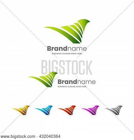 Spring Bird Logo Is Suitable For Business Startups, Wildlife Photography, Travel And Tourism, Bird A