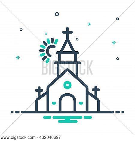 Mix Icon For Church House-of-god Place-of-worship Fane House-of-worship Faith Religion Christian Chr