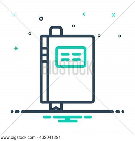 Mix Icon For Book Notebook Notepad Exercise-book Workbook Logbook Ledger Journal Diary