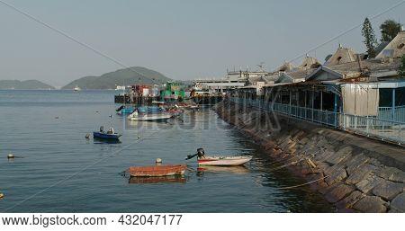 Hong Kong 23 April 2021: Hong Kong lantau island Mui wo