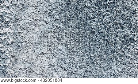 Close-up Gray Concrete Wall Texture Background, Cement Walls Are Decorated With Plastering Technique