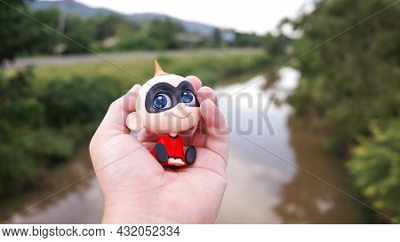 Thailand-august 7, 2021: Baby Jack Jack Incredibles 2 Figure Model. Baby Jack Jack Subject The Incre