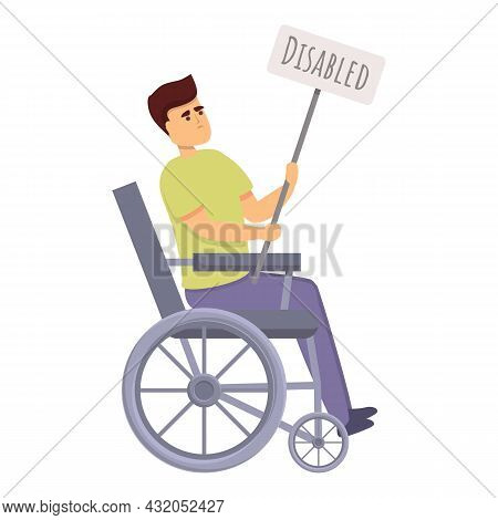 Disability Discrimination Icon Cartoon Vector. Disabled People. Handicap Tolerance