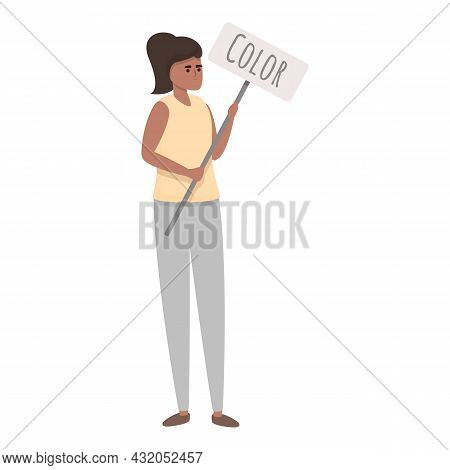 Color Skin Discrimination Icon Cartoon Vector. Racism Protest. Respect People