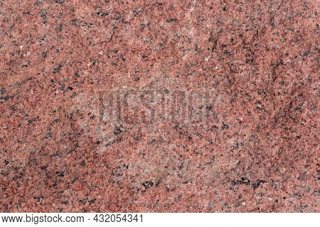 Torn Edge Of The Large Block Of Red Granite, Texture, Background