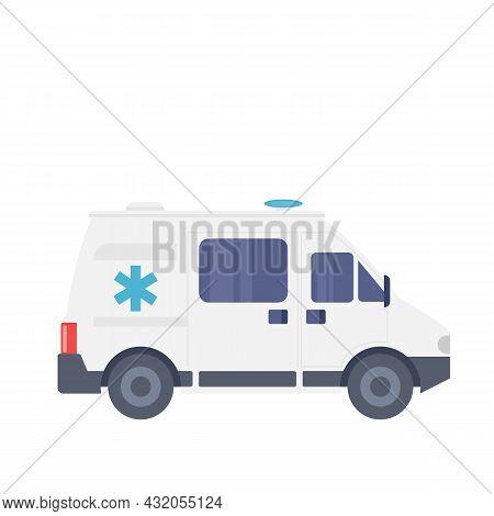 Ambulance, Auto Ambulance Car Or Emergency Service Vector Illustration.