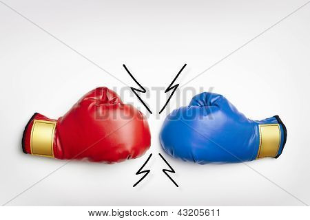Red And Blue Boxing Gloves