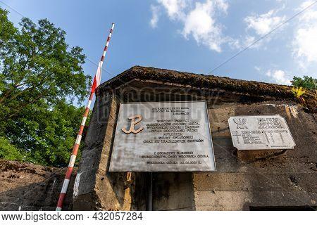 Wegierska Gorka, Poland, 08.07.2021. Facade Wall Of Wedrowiec World War Ii Fort In Wegierska Gorka W