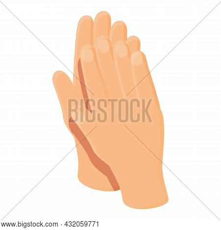 Hand Clap Icon Cartoon Vector. Encourage Applause. Finger Crowd