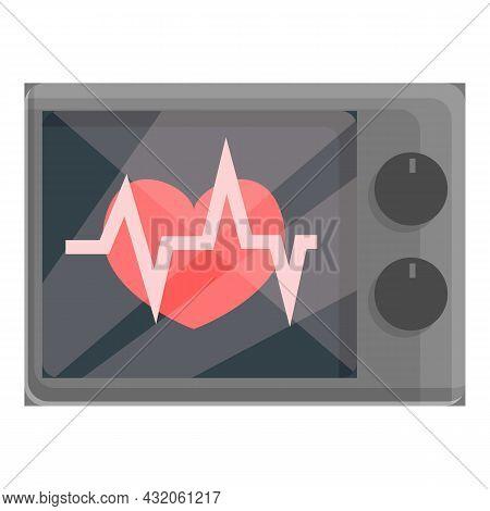 Heart Monitor Icon Cartoon Vector. Medical Cardiac. Health Electrocardiogram