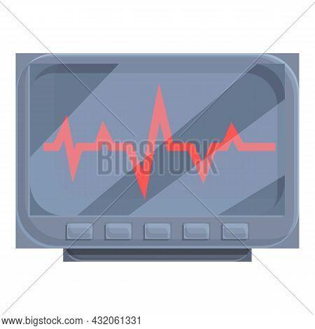 Medical Heart Monitor Icon Cartoon Vector. Attack Pain. Sick Disease