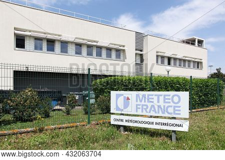 Bron, France - May 16, 2020: Interregional Meteorological Center And Building Of Meteo France In Bro