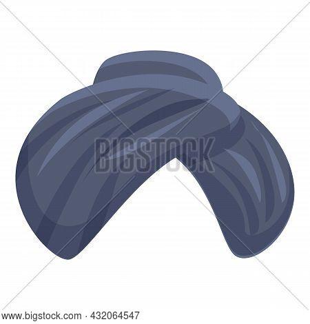 Indian Turban Icon Cartoon Vector. Arab Hat. Pagdi Culture