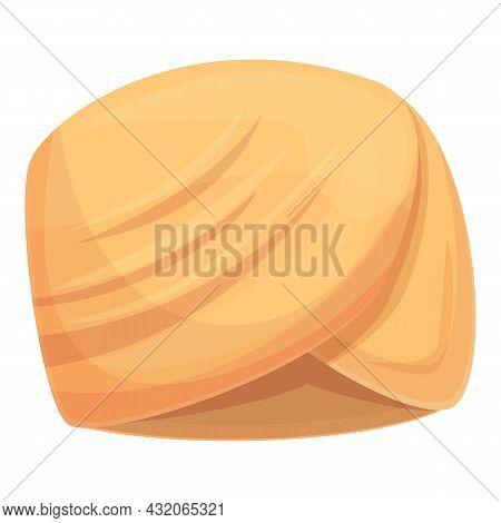 Turban Cap Icon Cartoon Vector. Arab Hat. Indian Turban