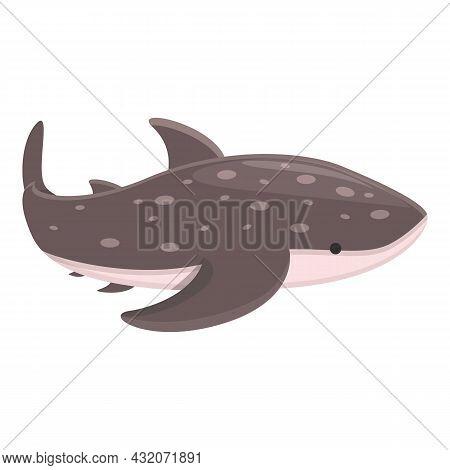 Whale Shark Fauna Icon Cartoon Vector. Animal Fish. Marine Creature