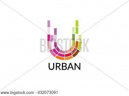 Urban Abstract U Letter Modern Logo Design