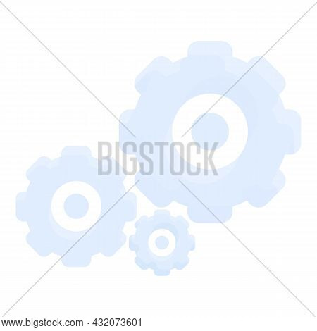 Concentration Gear Icon Cartoon Vector. Work Stress. Think Exam