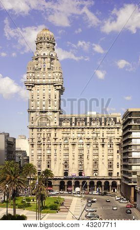 The Palacio Salvo At Montevideo, Uruguay