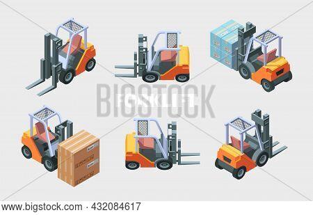 Forklift Loader. Transportation Service Loading Trucks Manufacturing Transporting Services Garish Ve