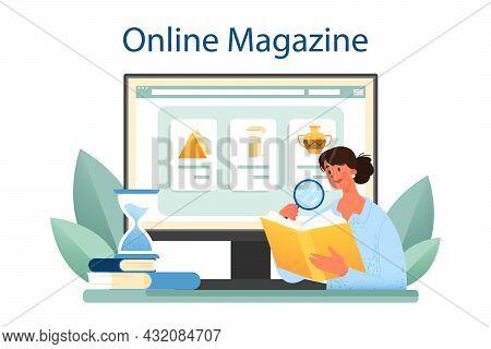 Historian Online Service Or Platform. History Science, Paleontology