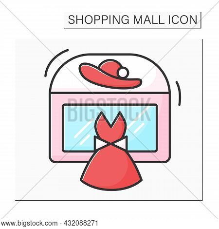 Fashion Boutique Color Icon. Small Store That Sells Stylish Clothing And Luxury Goods. Modern, Casua