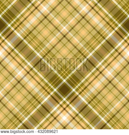 Seamless Pattern In Swamp Colors For Plaid, Fabric, Textile, Clothes, Tablecloth And Other Things. V