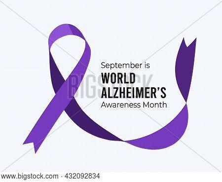 September Is World Alzheimer's Month. Vector Illustration