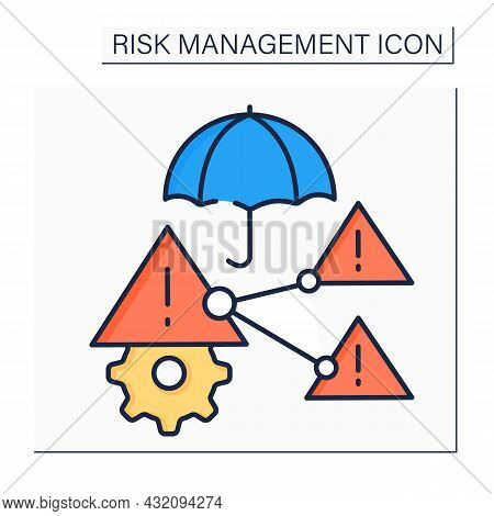 Difficult Risks Color Icon. Positive, Neutral, Or Negative Effects In Business.risk Prediction. Busi