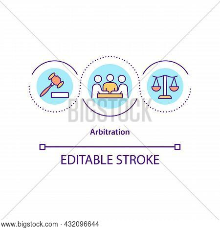 Arbitration Concept Icon. Mediation In Interpersonal Relations. Conflict Management Strategy Abstrac