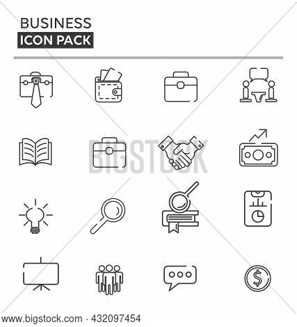 Business And Finance, Linear Icon Pack. Business And Finance Linear Icons Set