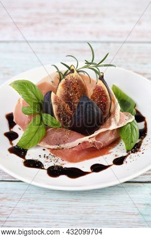 The Delicate Taste Of Prosciutto Is Ideally Combined With The Sweetness Of Figs.