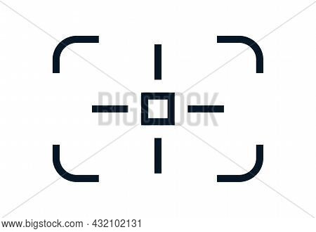Camera Frame Viewfinder Vector Icon Isolated On White Background For Screen Photography Frame For Vi