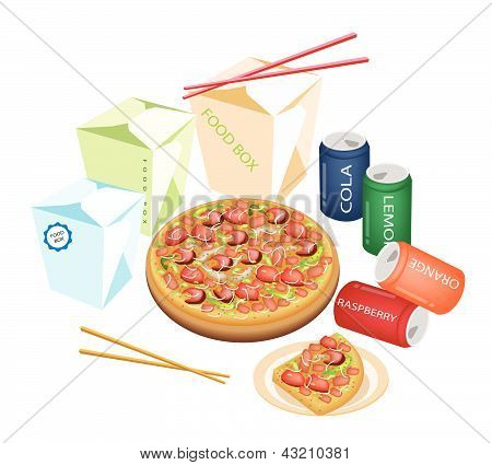 Delivery Food For Take Away To Home