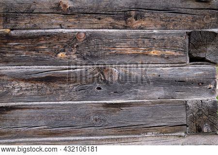 Wood Planks For Background Purpose. Old Wood Wall Texture Background.  Detailed Close Up On Wooden P