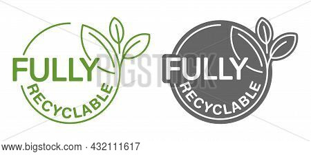 Fully Recyclable Stamp For Biodegradable Materials And Products. Zero Waste Industry And Environment
