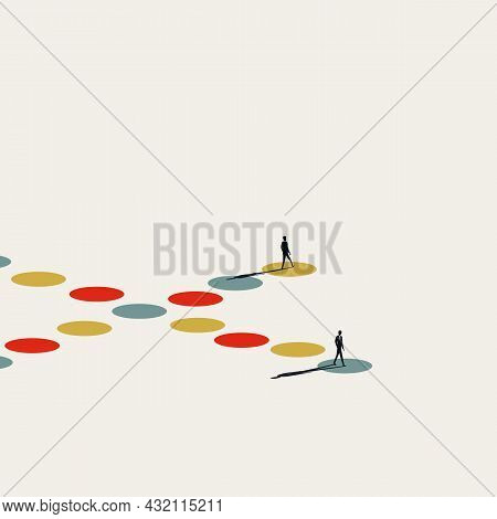 Different Direction, Opinion Abstract Vector Concept. Symbol Of Variety, Chalenge, Opportunity. Mini