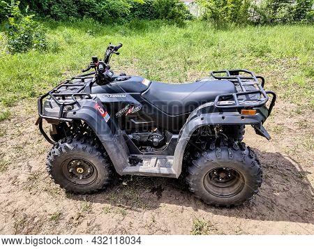 Kiyv, Ukraine - August 2, 2020: Buggy Linhai. Extreme Ride On Atv, Buggies, Jeeps.