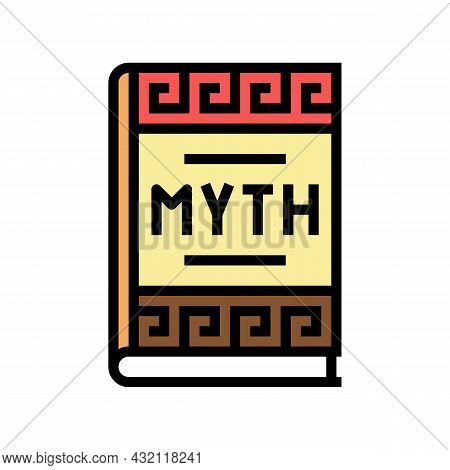 Myth Book Ancient Greece Color Icon Vector. Myth Book Ancient Greece Sign. Isolated Symbol Illustrat