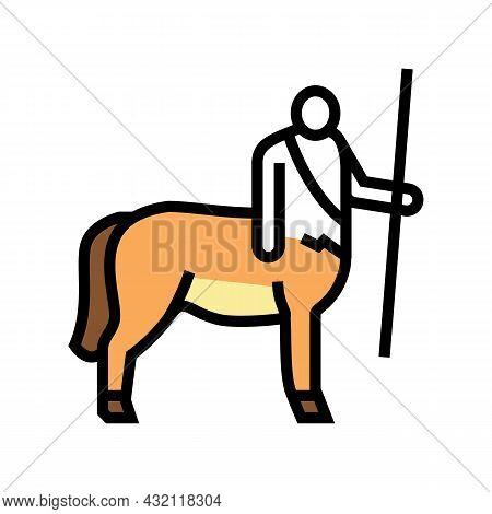 Centaur Ancient Greece Color Icon Vector. Centaur Ancient Greece Sign. Isolated Symbol Illustration