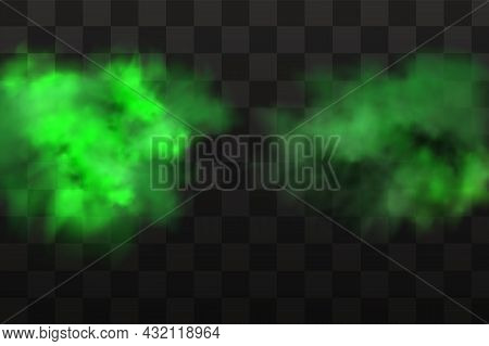 Vector Realistic Set Of Stench Breath Or Sweat Odor Isolated On Transparent Checkered Background.