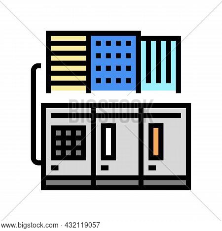 Commercial Or Industrial Conditioning System Color Icon Vector. Commercial Or Industrial Conditionin
