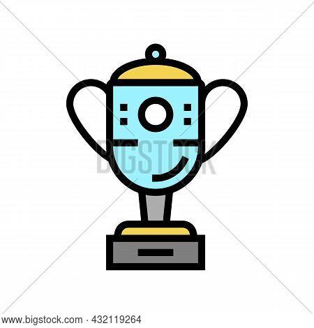 Champion Award Golf Tournament Color Icon Vector. Champion Award Golf Tournament Sign. Isolated Symb