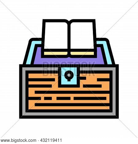 Book Educate Knowledge Color Icon Vector. Book Educate Knowledge Sign. Isolated Symbol Illustration