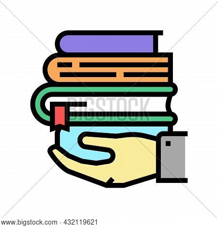 Educational Literature Color Icon Vector. Educational Literature Sign. Isolated Symbol Illustration