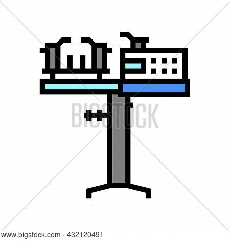 Racquet Stringing Machine Color Icon Vector. Racquet Stringing Machine Sign. Isolated Symbol Illustr