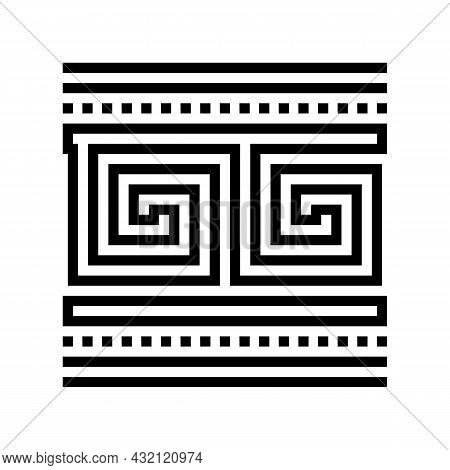 Ornament Ancient Greece Line Icon Vector. Ornament Ancient Greece Sign. Isolated Contour Symbol Blac