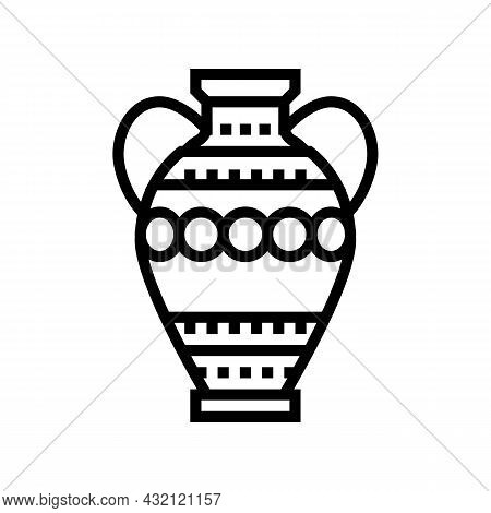 Amphora Ancient Rome Line Icon Vector. Amphora Ancient Rome Sign. Isolated Contour Symbol Black Illu