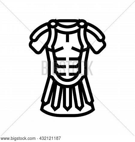 Legionary Clothes Ancient Rome Line Icon Vector. Legionary Clothes Ancient Rome Sign. Isolated Conto