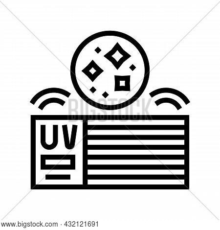 House Air Filtration System Line Icon Vector. House Air Filtration System Sign. Isolated Contour Sym